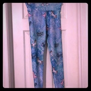 Justice Unicorn Leggings Size 10